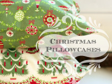 DIY Christmas Pillowcases