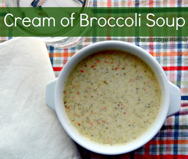 Cream of Broccoli Soup Recipe - The Cottage Mama
