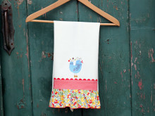 National Serger Month: Ruffle Dishtowel Tutorial