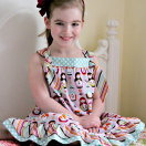 Easy Knot Dress Tutorial from The Cottage Mama. www.thecottagemama.com