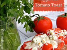 Goat Cheese & Mozzarella Tomato Toast Recipe