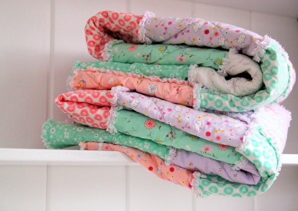 Some Bunny Loves You Easy Rag Quilt Tutorial The