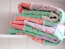 Some Bunny Loves You: Easy Rag Quilt Tutorial