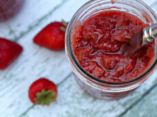 Slow Cooker Strawberry Rhubarb Jam ~ Recipe