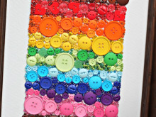 DIY Rainbow Button Decor