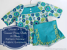 Oliver + S Summer Picnic Blouse and Shorts: Modern Yardage Fabric Giveaway
