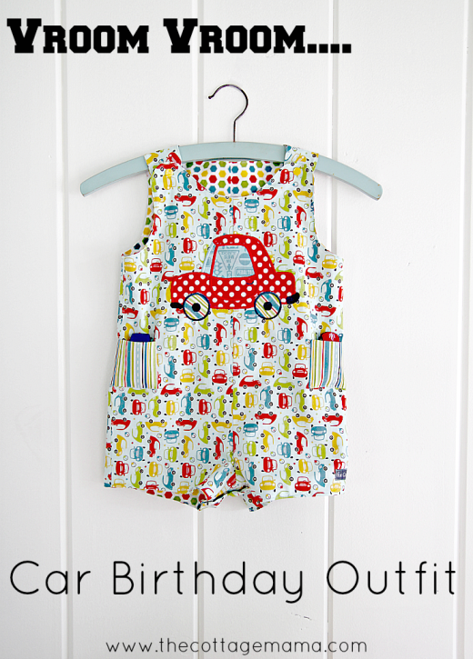Little Boy Cars Birthday Party Outfit. www.thecottagemama.com