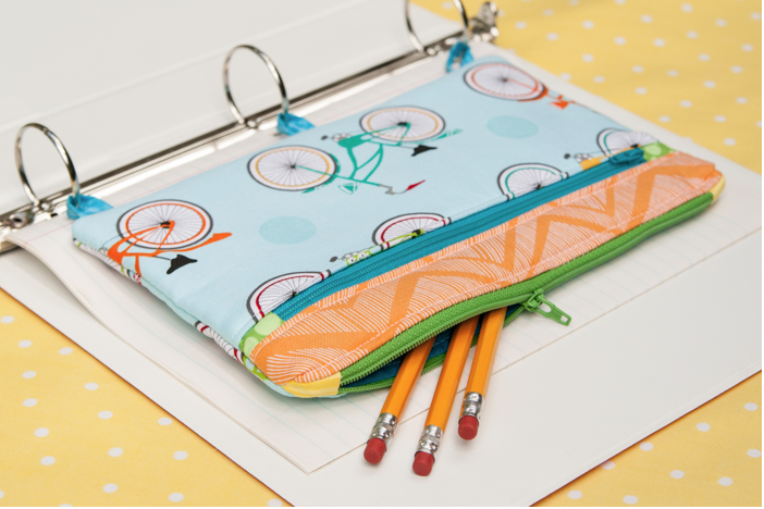 Three Ring Binder Pencil Case Sewing Tutorial - The Cottage Mama