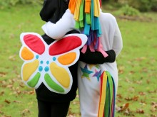 Rainbow Unicorn & Rainbow Butterfly Costumes