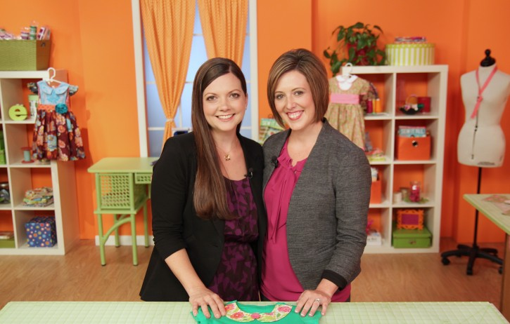 PBS Sew It All TV Filming. www.thecottagemama.com