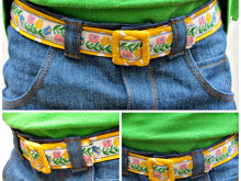 Reversible Vintage Trim Fabric Belt Tutorial