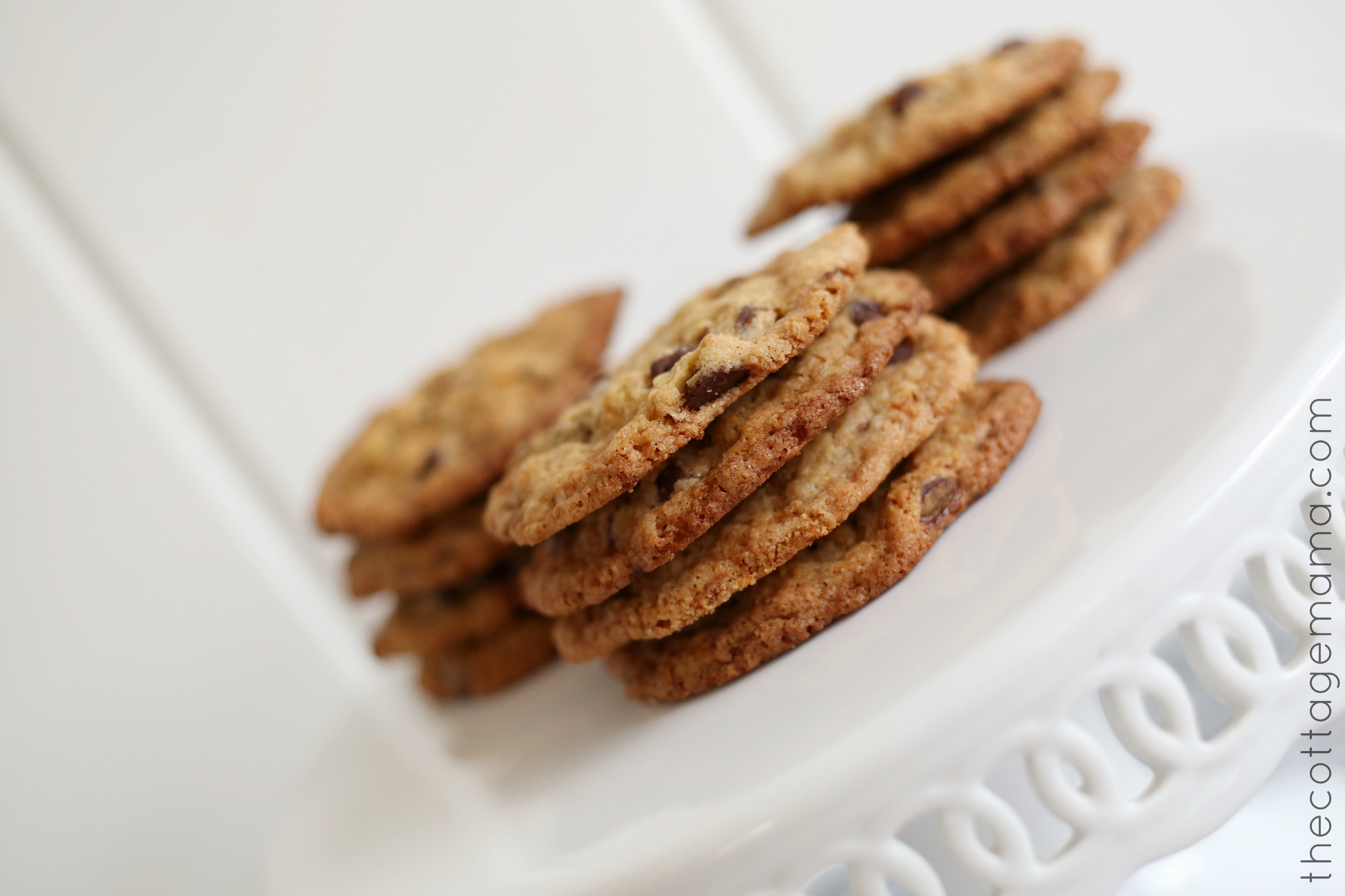 Crispy and Chewy Chocolate Chip Cookie Recipe - The Cottage Mama