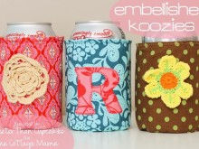Embellished Fabric Koozie Tutorial