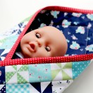 Baby Doll Pouch Blanket Tutorial from The Cottage Mama. www.thecottagemama.com