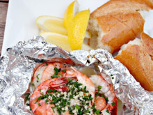 Garlic, Lemon and Chive Grilled Shrimp Recipe