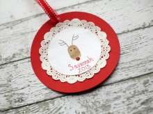 Reindeer Thumb Print Ornament Tutorial
