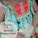 Matilda's Mermaid Outfit by Lindsay Wilkes from The Cottage Mama. www.thecottagemama.com