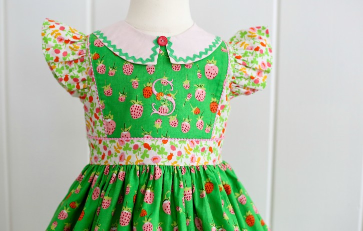 Georgia Vintage Dress. Pattern from The Cottage Mama. www.thecottagemama.com