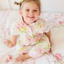 """Claire Pajamas Pattern from The Cottage Mama. Size 6 month - 10 years and 18"""" doll pattern."""