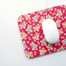 Fabric Covered Mouse Pad Tutorial. A no-sew project from The Cottage Mama. www.thecottagemama.com