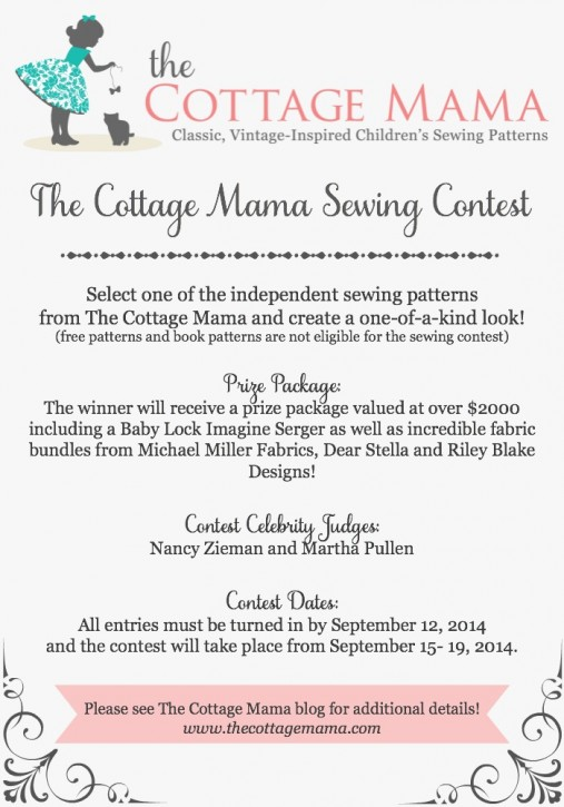 The Cottage Mama Sewing Contest. www.thecottagemama.com