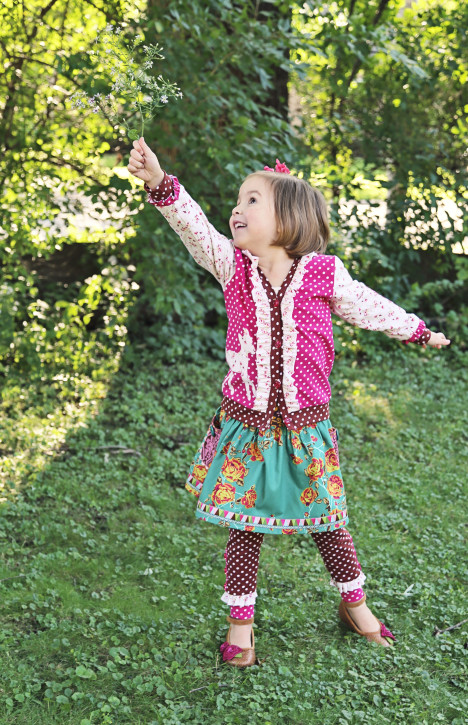 Maisie Skirt and Leggings Pattern from The Cottage Mama. Size 6 month - 10 years. www.thecottagemama.com