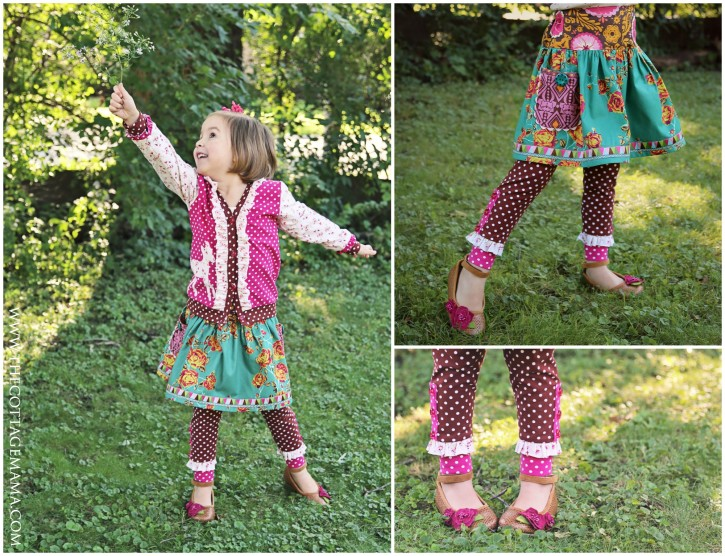 The Cottage Mama Sewing Patterns. Double Dutch Cardigan, Maisie Skirt and Leggings and Woodland Applique Set. www.thecottagemama.com