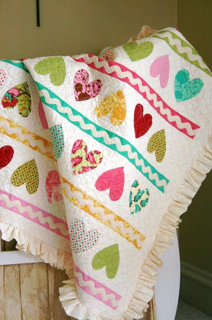 Free Patterns to Sew for Valentine's Day on The Cottage Mama. www.thecottagemama.com