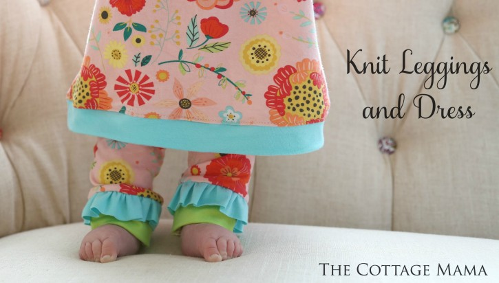 Knit Leggings and Dress from The Cottage Mama. www.thecottagemama.com