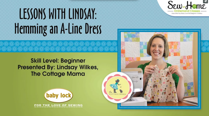 How to Hem a Lined A-Line Dress by Lindsay Wilkes from The Cottage Mama. Great how-to video.....perfect for visual learners!