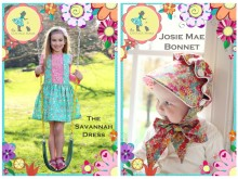 New Patterns: Savannah Dress & Josie Mae Bonnet