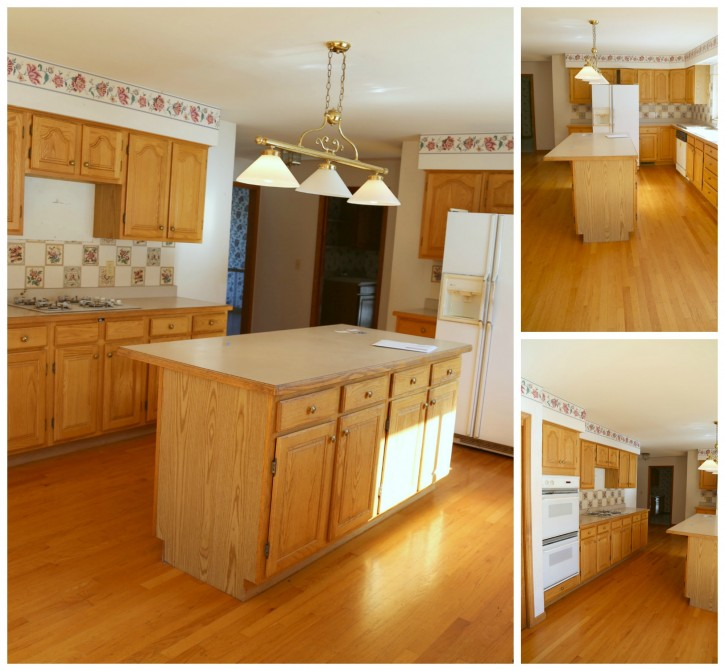 The NEW Cottage Home Before and After Kitchen Makeover. This Kitchen is AMAZING! This is the kitchen before.