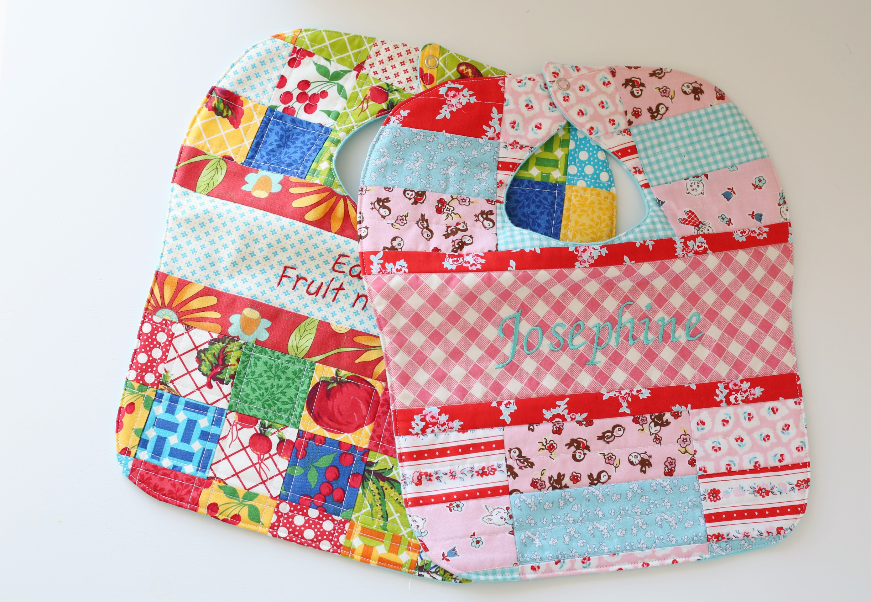 Patchwork Baby Bibs For Josephine The Cottage Mama