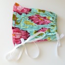 DIY Sashiko Baby Bonnet on The Cottage Mama. This is SO sweet!