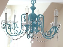 Girls Chandelier Makeover
