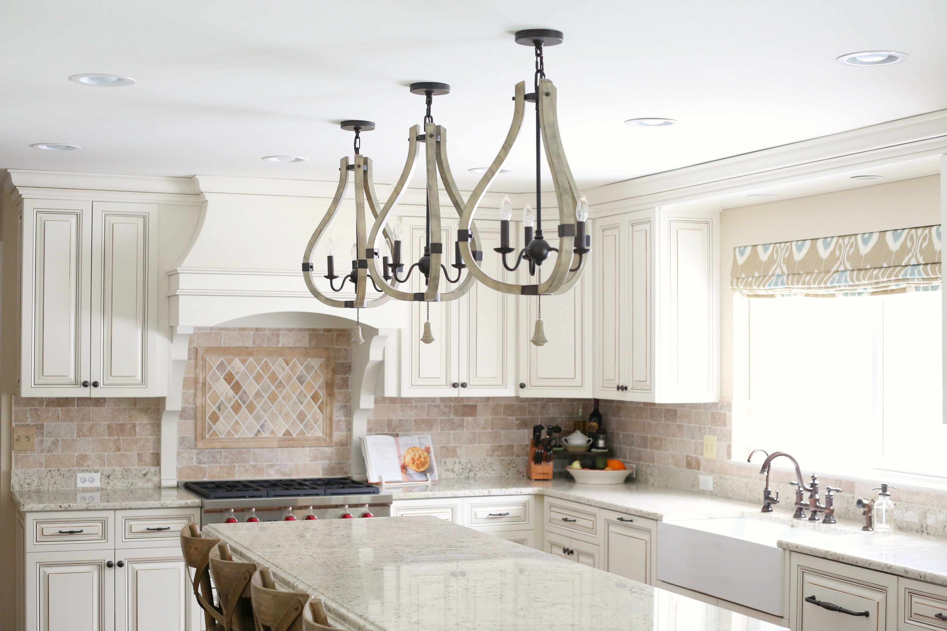 astounding kitchen lighting before after | The NEW Cottage Home Before and After Kitchen Makeover ...