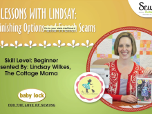 Lessons with Lindsay: Edge Finishing Options