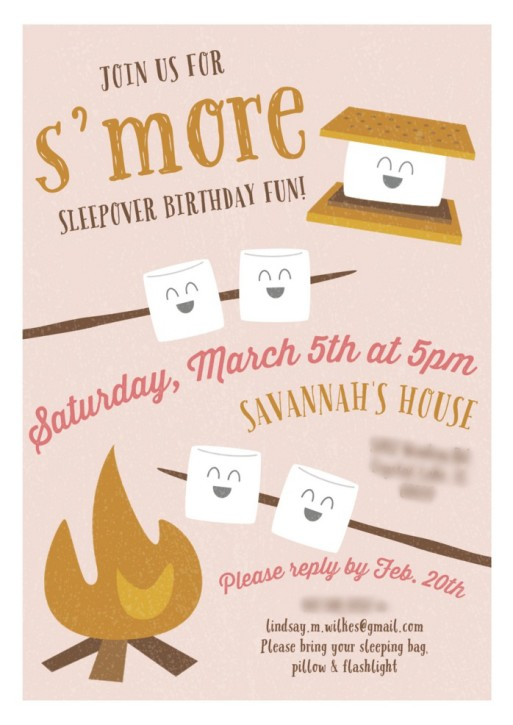 Camping Party Invitations The Cottage Mama
