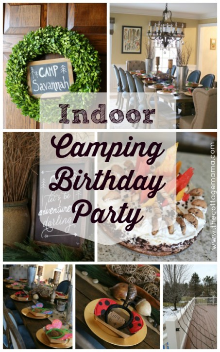 Girls Camping Themed Birthday Party The Cottage Mama