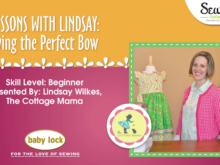 Lessons with Lindsay: Tying the Perfect Bow