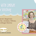 Lessons with Lindsay: Edge Stitching Sewing Video Tutorial from The Cottage Mama. www.thecottagemama.com