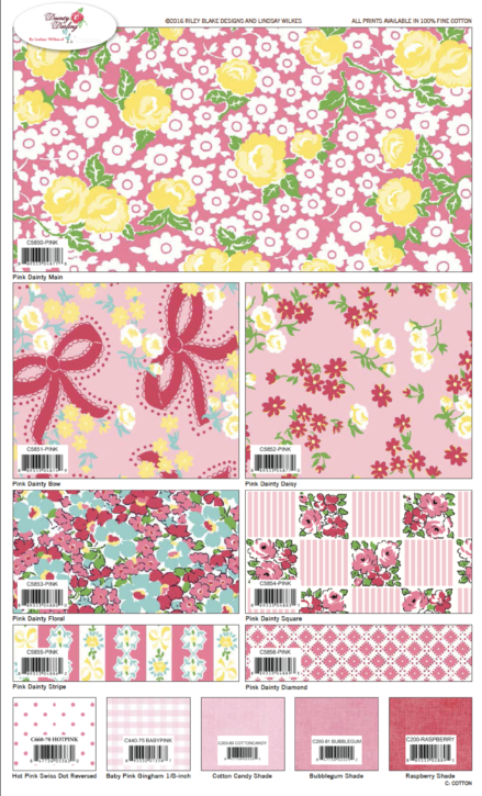 Dainty Darling Fabric Collection Design By Lindsay Wilkes