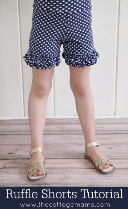 Ruffle Shorts FREE Pattern. The Cottage Mama. Sewing.