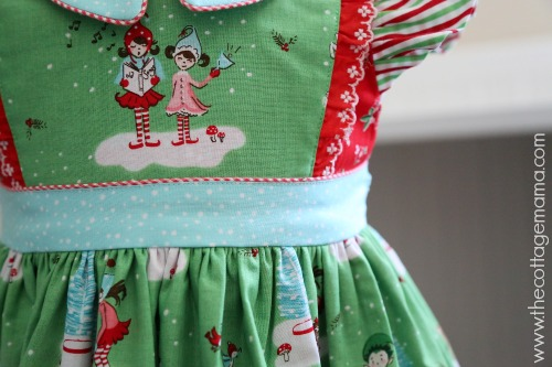 Pixie Noel. Georgia Vintage Dress Pattern by Lindsay Wilkes from The Cottage Mama. www.thecottagemama.com