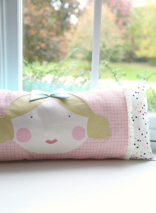 Goldie Dolly Pillow by Lindsay Wilkes from The Cottage Mama. www.thecottagemama.com