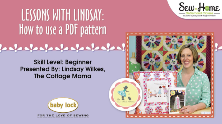 How to Use a PDF Pattern Video Tutorial by Lindsay Wilkes from The Cottage Mama