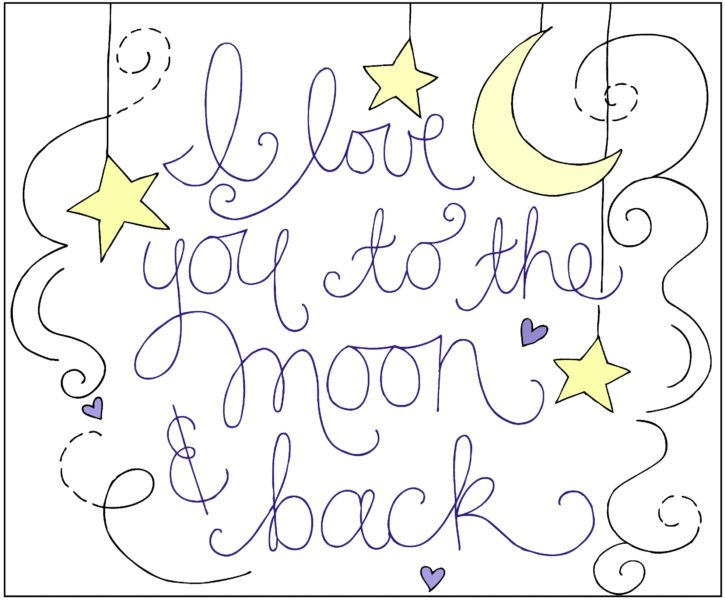 Fancy Love You to the Moon and Back Embroidered Pillow Tutorial The Cottage Mama