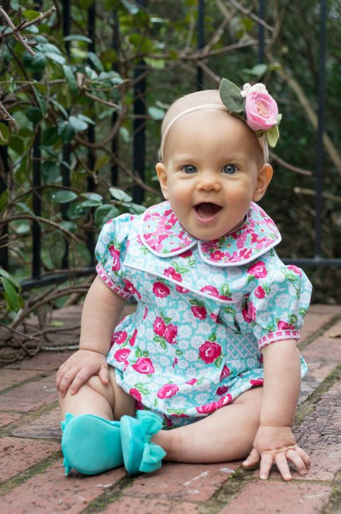 Adelaide Romper Pattern (Size 3M - 4T) from The Cottage Mama