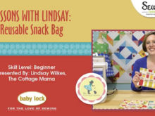 Lessons with Lindsay: Reusable Snack Bag Pattern