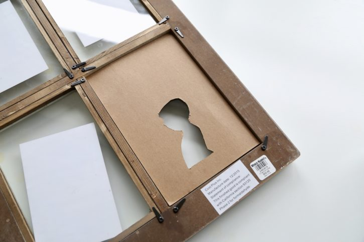 Silhouette Art Frame Tutorial by Lindsay Wilkes from The Cottage Mama. Great DIY Craft Project!